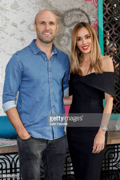 Chris and Rebecca Judd arrives ahead of the official launch of David Thompson's Long Chim Melbourne at Crown Riverwalk on February 9 2017 in...