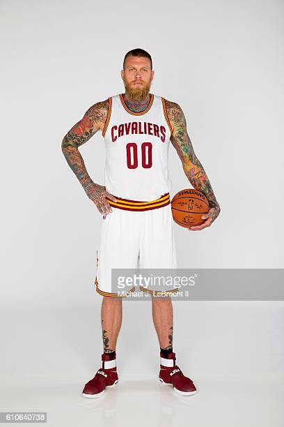 Chris Andersen of the Cleveland Cavaliers poses for a portrait during 20162017 Cleveland Cavaliers Media Day at the Cleveland Clinic Courts on...