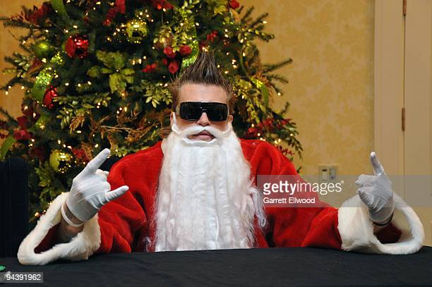 Chris Andersen of the Denver Nuggets poses for a photo as Santa Claus to benefit the Alliance for Choice in Education during the Denver Nuggets...