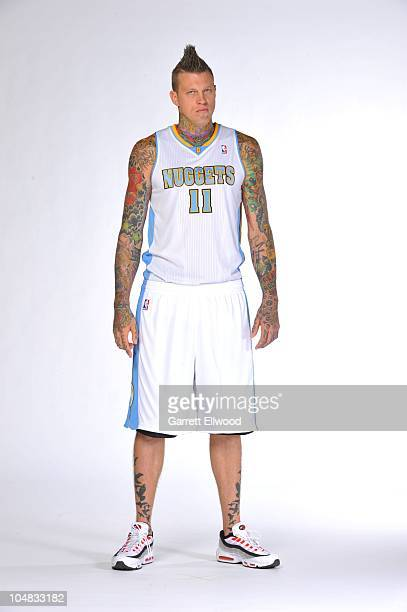 Chris Andersen of the Denver Nuggets poses for a photogragh during media day on September 27 2010 at the Pepsi Center in Denver Colorado NOTE TO USER...