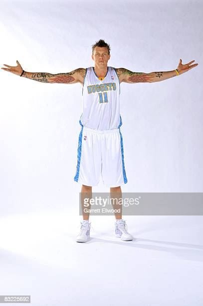 Chris Andersen of the Denver Nuggets poses for a portrait during NBA Media Day at the Pepsi Center on September 29 2008 in Denver Colorado NOTE TO...
