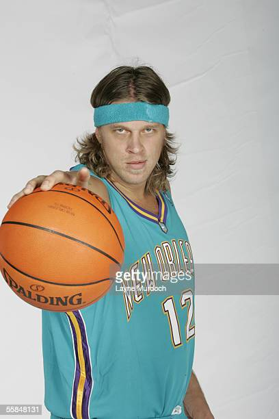 Chris Andersen of the New Orleans/Oklahoma City Hornets poses for photos during NBA Media day at the Ford Center in Oklahoma City Oklahoma on October...