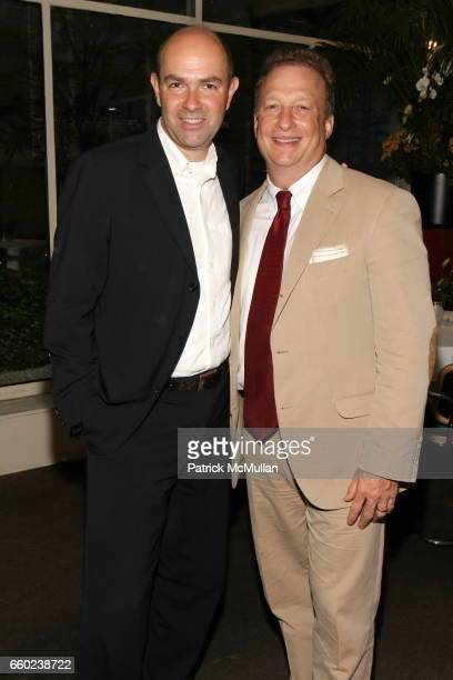 Chris Anderson and Miles Nadal attend Book Launch for Chris Anderson's 'Free The Future of a Radical Price' at Michael's Restaurant on July 7 2009 in...