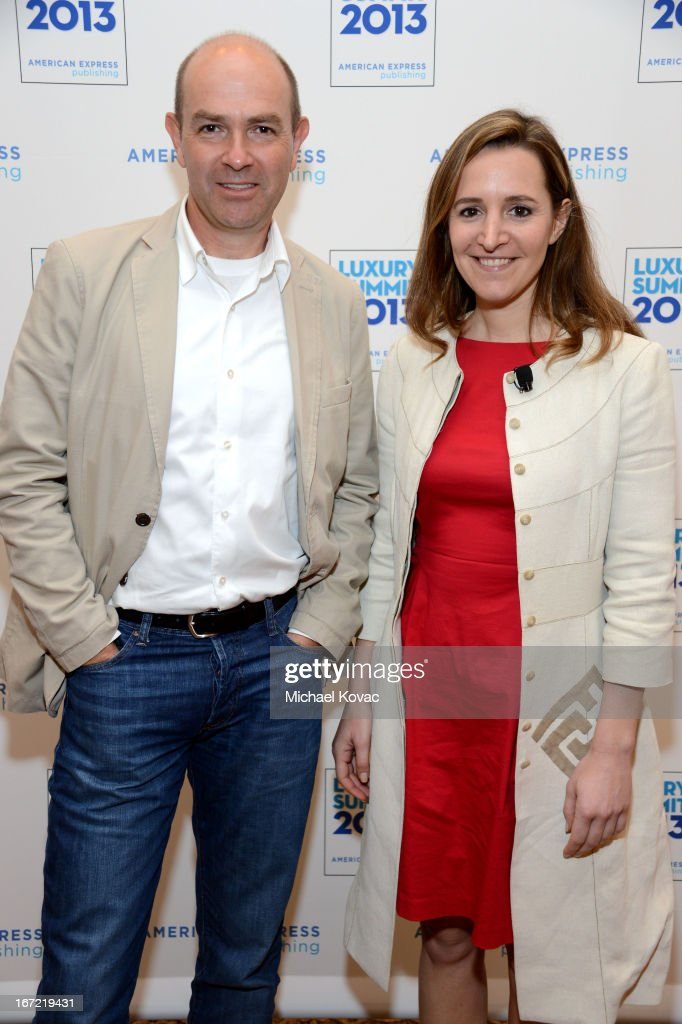 Chris Anderson, Author, CEO, 3DRobotics, and Alexandra Wolfe, Contributing Editor, Departures, attend The American Express Publishing Luxury Summit 2013 at St. Regis Monarch Beach Resort on April 22, 2013 in Dana Point, California.