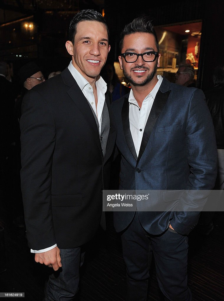Chris Andrade and Jay Rodriguez attend the opening night after party of 'Jekyll & Hyde' held at Beso on February 12, 2013 in Hollywood, California.