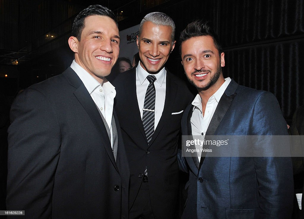 Chris Andrade, Jay Manuel and Jay Rodriguez attend the opening night after party of 'Jekyll & Hyde' held at Beso on February 12, 2013 in Hollywood, California.