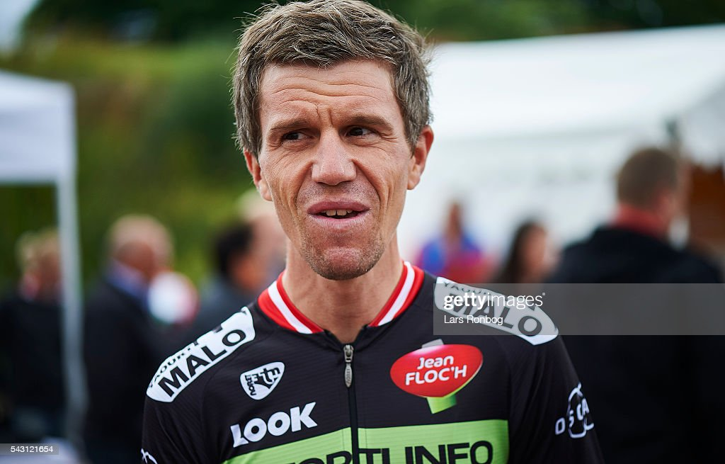 Chris Anker Sorensen of Fortuneo Vital Concept looks on prior to the Elite Men Road Race Championships on day three of the Danish Cycling Championships on June 26, 2016 in Vordingborg, Denmark.