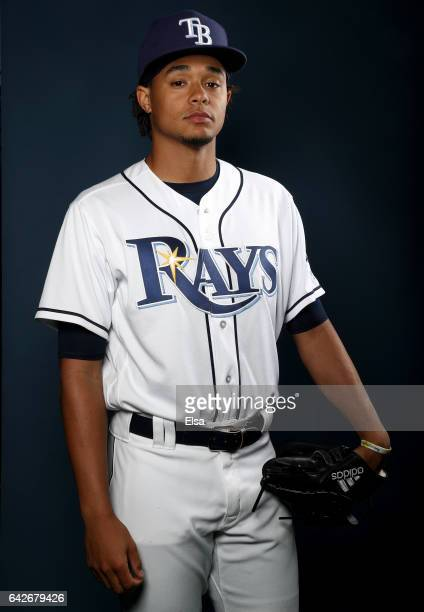 Chris Archer of the Tampa Bay Rays poses for a portrait during the Tampa Bay Rays photo day on February 18 2017 at Charlotte Sports Park in Port...