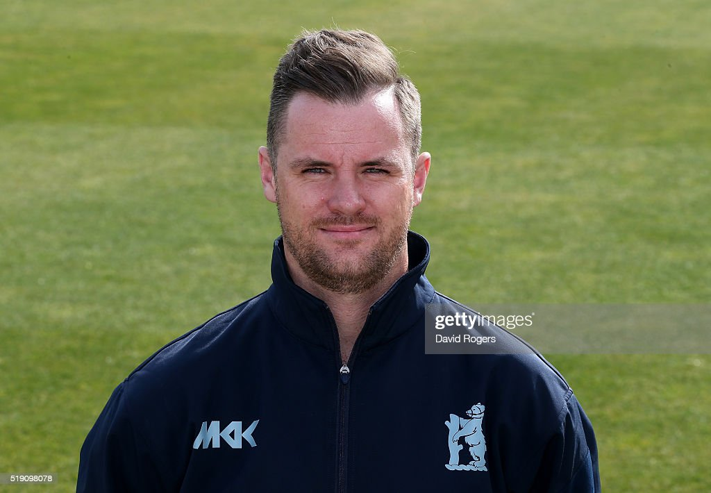<a gi-track='captionPersonalityLinkClicked' href=/galleries/search?phrase=Chris+Armstrong&family=editorial&specificpeople=661189 ng-click='$event.stopPropagation()'>Chris Armstrong</a> strength and conditioning coahc of Warwickshire CCC poses for a portrait during the photocall held at Edgbaston on April 4, 2016 in Birmingham, England.