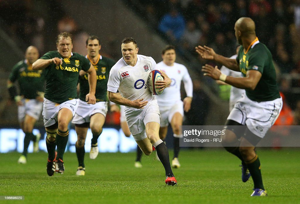 <a gi-track='captionPersonalityLinkClicked' href=/galleries/search?phrase=Chris+Ashton&family=editorial&specificpeople=2649431 ng-click='$event.stopPropagation()'>Chris Ashton</a> of England runs with the ball during the QBE International match between England and South Africa at Twickenham Stadium on November 24, 2012 in London, England.