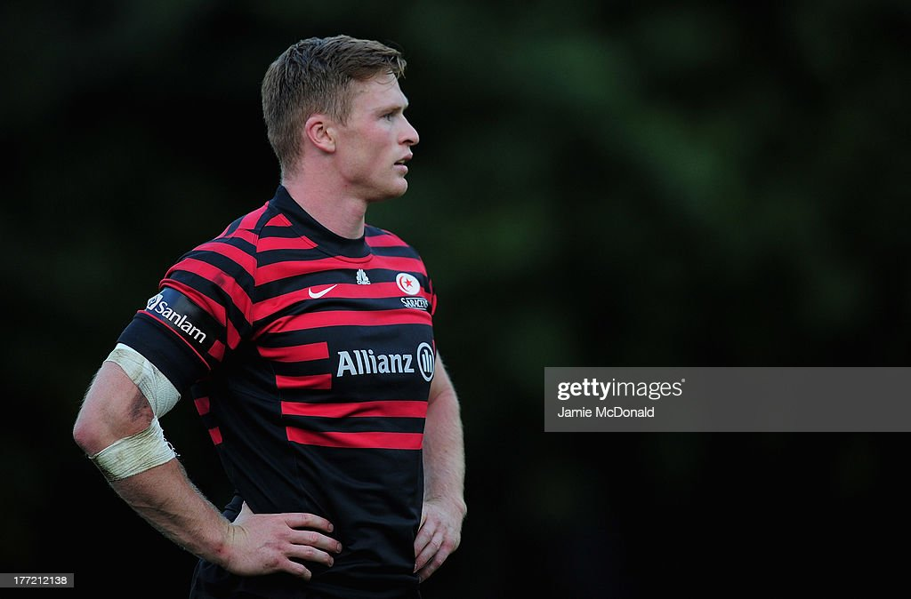 Chris Ashton of Saracens in action during the pre season friendly match between Saracens and Cornish Pirates at Honourable Artillery Company on August 22, 2013 in London, England.