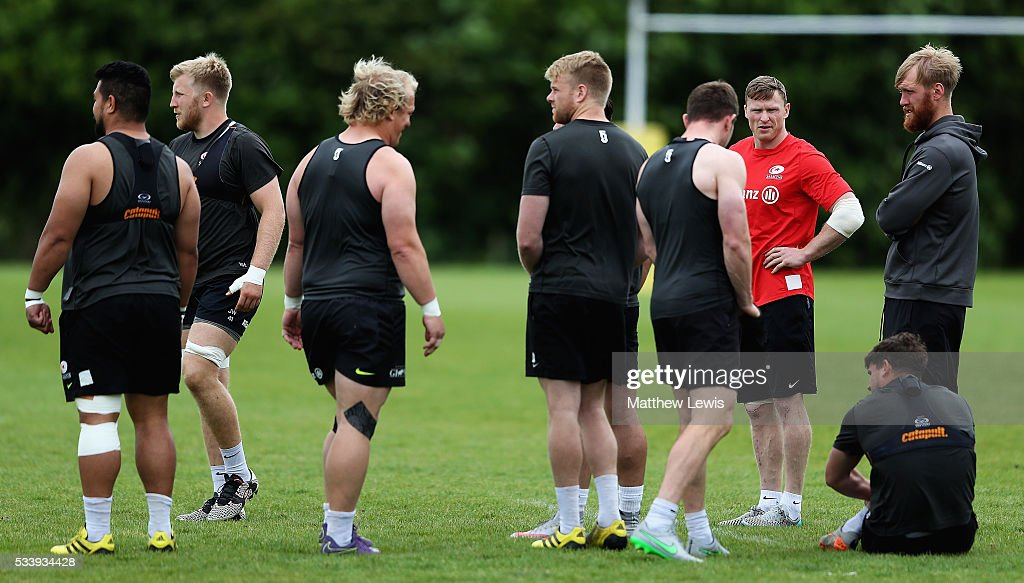 <a gi-track='captionPersonalityLinkClicked' href=/galleries/search?phrase=Chris+Ashton&family=editorial&specificpeople=2649431 ng-click='$event.stopPropagation()'>Chris Ashton</a> of Saracens looks on during a Saracens Training Session on May 24, 2016 in St Albans, England.