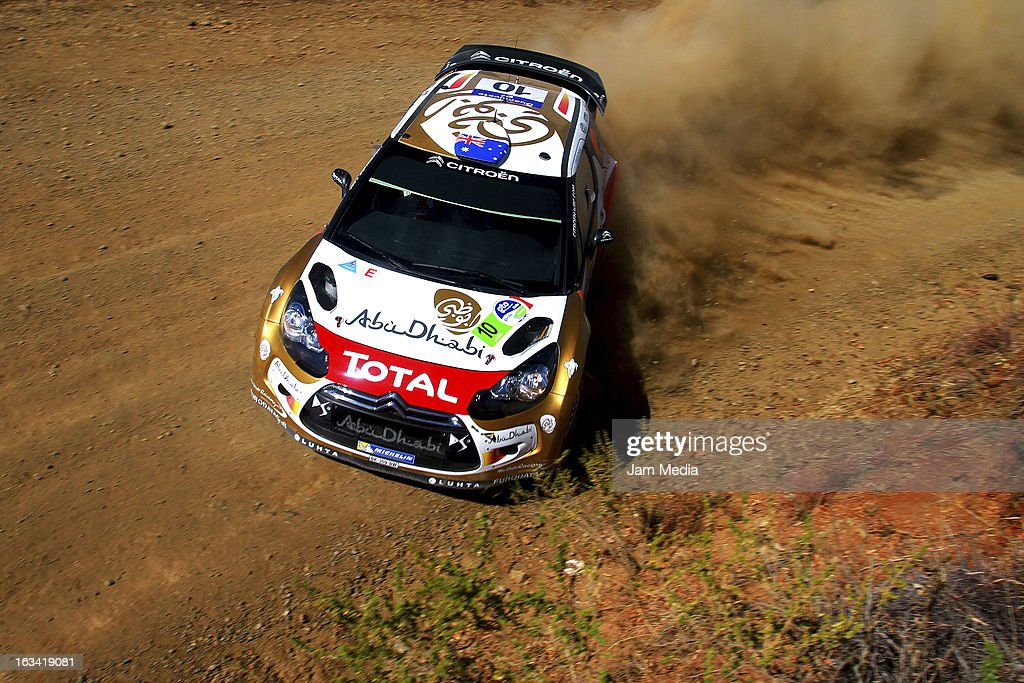 Chris Atkinson and Stephane Prevot of Australia during the WRC Rally Championship Mexico on March 09, 2013 in Leon , Mexico.