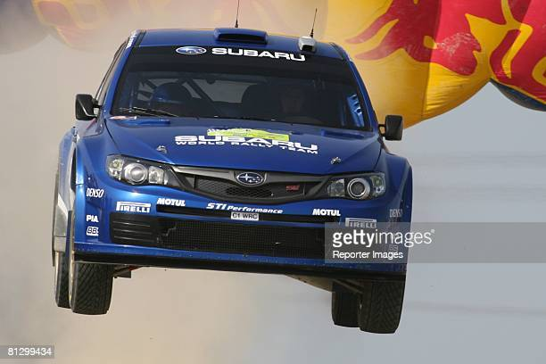 Chris Atkinson of Australia and Stephane Prevot of Belgium and Subaru WRT drive their Subaru Impreza WRC 2006 A/8 during Stage 1 of the BP Ultimate...