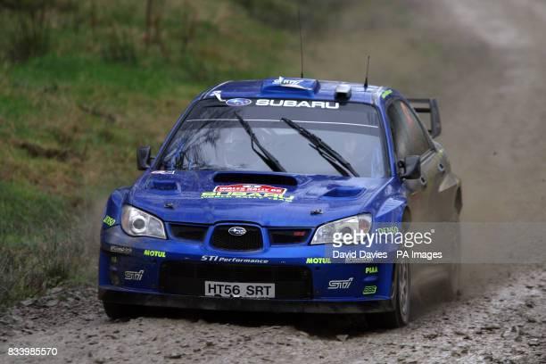 Chris Atkinson of Australia in the Subaru Impreza WRC in the Wales Rally GB