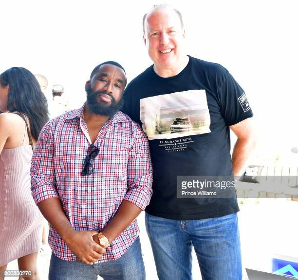 Chris Atlas and Steve Bartels attend a Def Jam Event on June 24 2017 in Los Angeles California