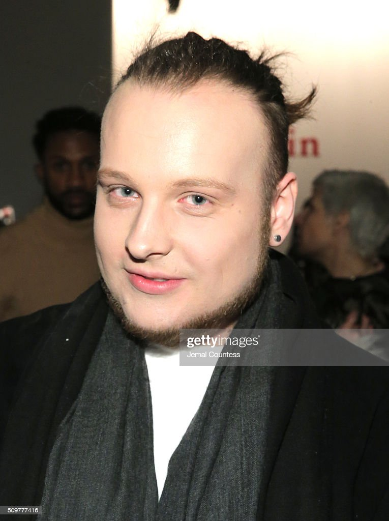 Chris Avery Bennet attends the iiJin Fall 2016 fashion show during New York Fashion Week at Pier 59 on February 12, 2016 in New York City.