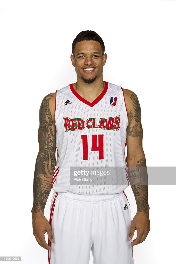 <a gi-track='captionPersonalityLinkClicked' href=/galleries/search?phrase=Chris+Babb&family=editorial&specificpeople=5758599 ng-click='$event.stopPropagation()'>Chris Babb</a> #14 of the Maine Red Claws poses for a picture during the NBA D-League media day on November 8, 2013 at the Portland Expo in Portland, Maine.