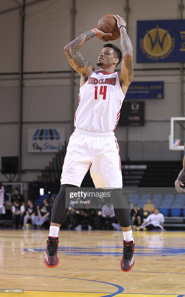 <a gi-track='captionPersonalityLinkClicked' href=/galleries/search?phrase=Chris+Babb&family=editorial&specificpeople=5758599 ng-click='$event.stopPropagation()'>Chris Babb</a> #14 of the Maine Red Claws shoots the ball against the Texas Legends of the during the 2015 NBA D-League Showcase presented by SAMSUNG on January 18, 2015 at Kaiser Permanente Arena in Santa Cruz, California.