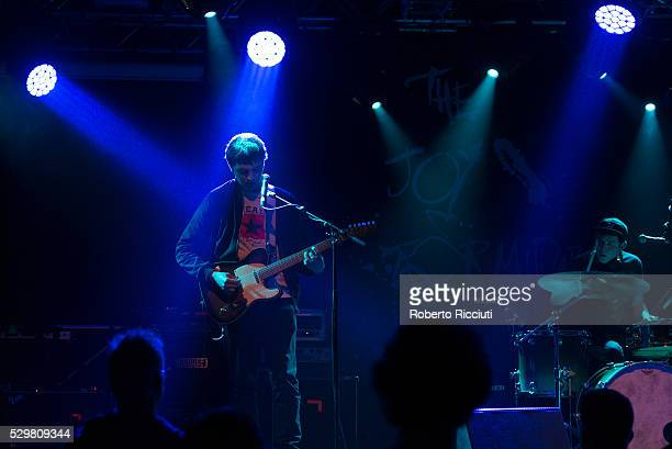 Chris Bainbridge and Mikey Reid of Man of Moon perform on stage at The Liquid Room on May 9 2016 in Edinburgh Scotland