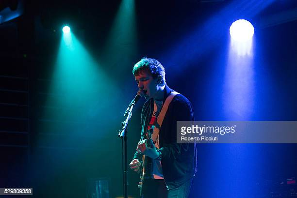 Chris Bainbridge of Man of Moon performs on stage at The Liquid Room on May 9 2016 in Edinburgh Scotland