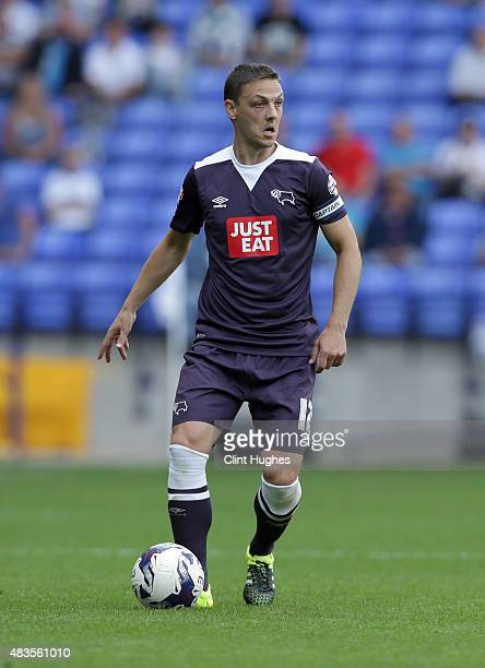 Chris Baird of Derby County during the Sky Bet Championship match between Bolton Wanderers and Derby County at the Macron Stadium on August 8 2015 in...