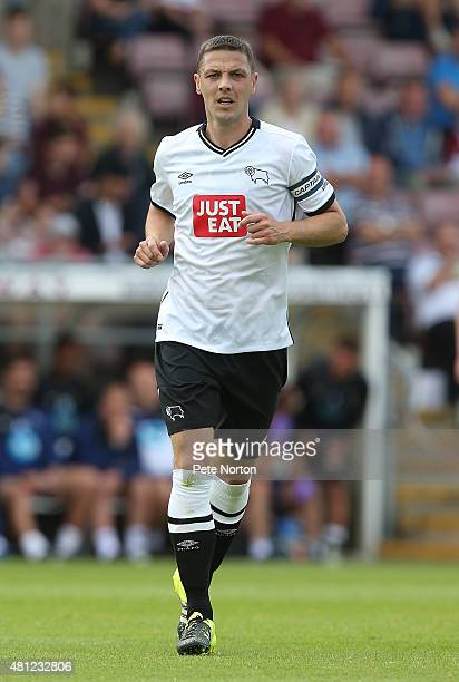 Chris Baird of Derby County in action during the PreSeason Friendly match between Northampton Town and Derby County at Sixfields Stadium on July 18...