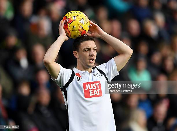 Chris Baird of Derby County in action during the Sky Bet Championship match between Derby County and Rotherham United at iPro Stadium on November 19...