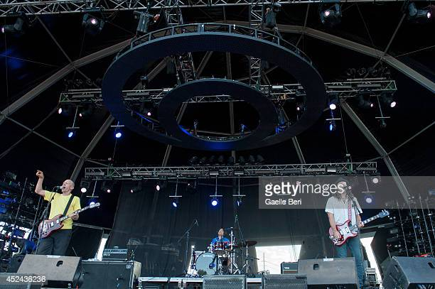 Chris Ballew Jason Finn and Dave Dededer of The President of United States of America perform on Day 4 of Benicassim Music Festival on July 20 2014...