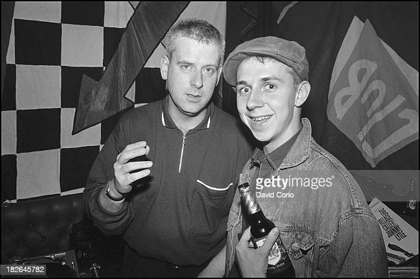 Chris Bangs and Gilles Peterson djing at 'Special Branch' at the Royal Oak Tooley Street London UK 1986