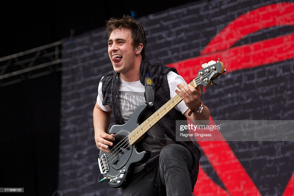 Chris Batten of Enter Shikari performs on stage on Day 4 of Rock The Beach Festival on June 29, 2013 in Helsinki, Finland.