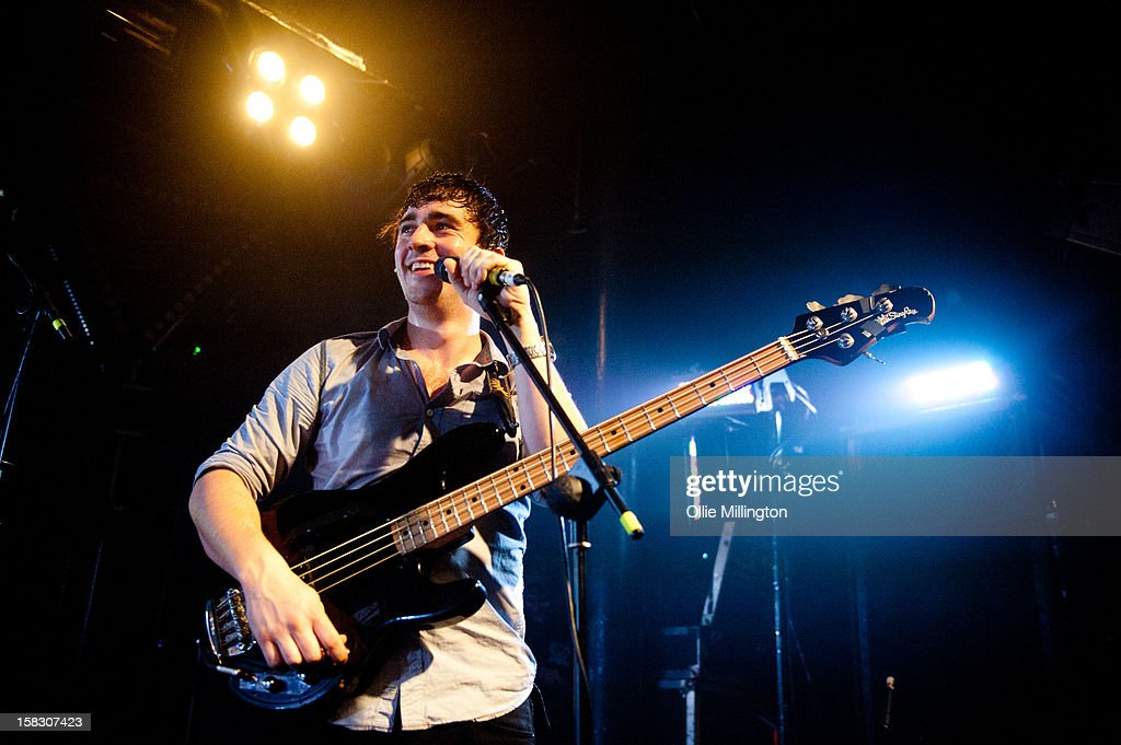 Chris Batten of Enter Shikari Performs onstage during a day of the 5th UK leg of their A Flash Flood of Colour World Tour called A Flash Flood Of Christmas; at Rock City on December 12, 2012 in Nottingham, England.