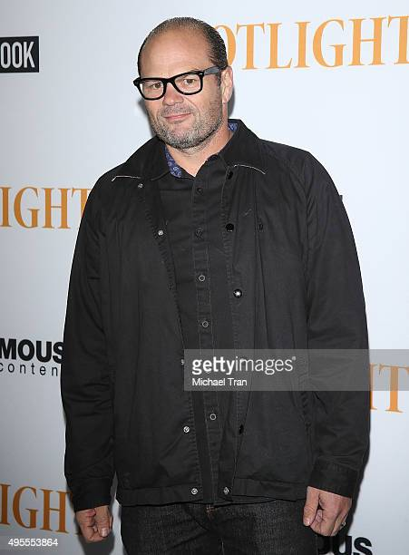 Chris Bauer arrives at the Los Angeles screening of Open Road Films' 'Spotlight' held at DGA Theater on November 3 2015 in Los Angeles California