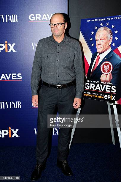 Chris Bauer attends the EPIX and Vanity Fair Host the Premiere of EPIX Original Series 'Graves' at Museum of Modern Art on October 5 2016 in New York...