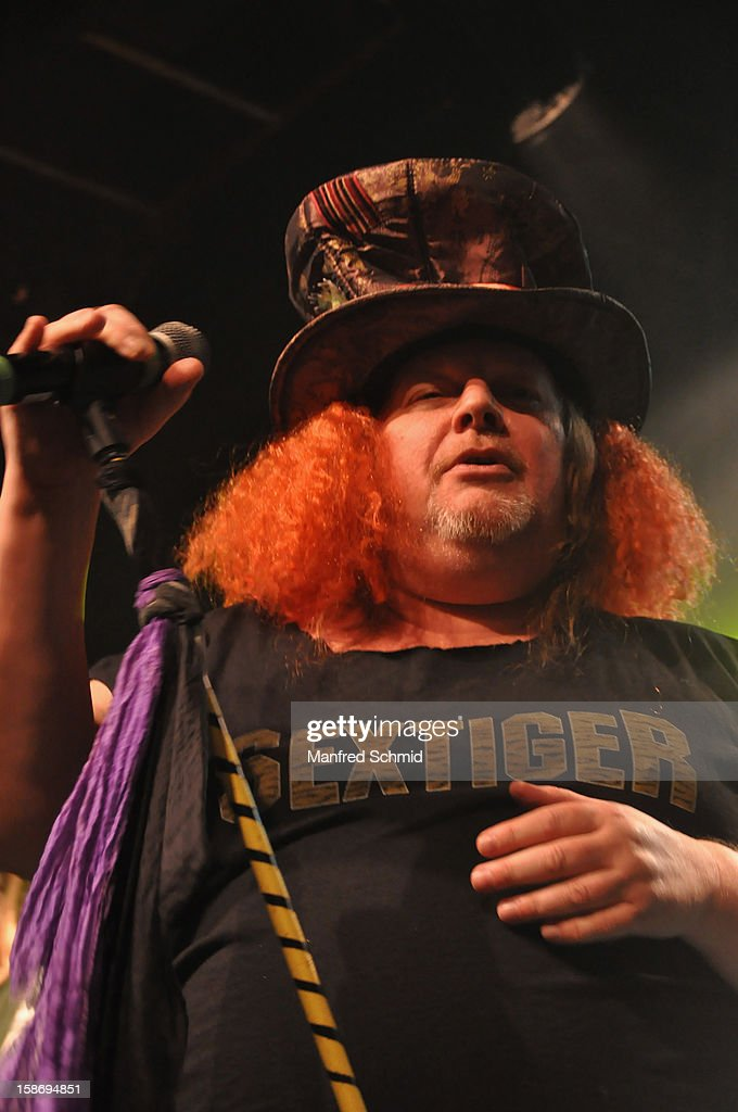 Chris Bauer of Sextiger performs onstage during the heavy X-mas concert at Szene Wien music club on December 20, 2012 in Vienna, Austria.