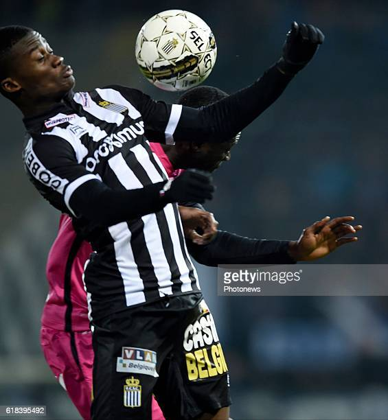 Chris Bedia forward of Sporting Charleroi pictured during Jupiler Pro League match between RCS Charleroi and KRC GENK on October 26 2016 in Charleroi...