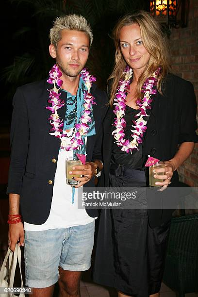 Chris Benz and Jessica Diehl attend JED ROOT Hawaiian Barbeque in Early Celebration of 20 Years at The Bowery Hotel on July 17 2008 in New York City