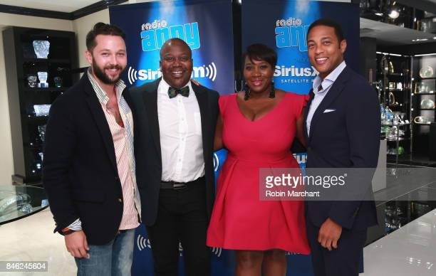 Chris Benz Titus Burgess SiriusXM Host Bevy Smith and Don Lemon attend A Radio Special Celebrating The Anniversary Of Andy Cohen's SiriusXM Channel...