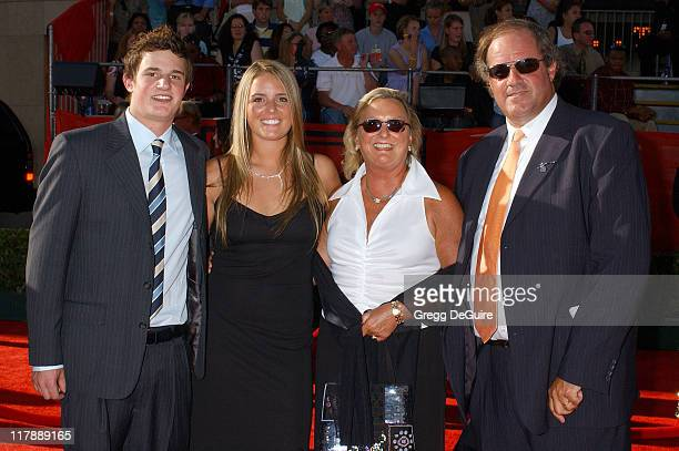 Chris Berman and family during 2004 ESPY Awards Arrivals at Kodak Theatre in Hollywood California United States