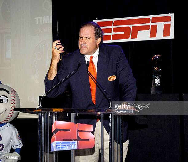 Chris Berman during ESPN's 25th Anniversary Celebration Inside at ESPN Zone Times Square in New York City New York United States