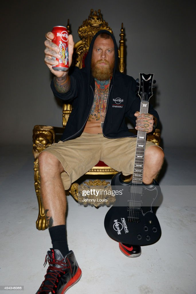 Chris 'Birdman' Andersen attends a press call to promote Hard Rock Energy Drink on August 29, 2014 in Fort Lauderdale, Florida.