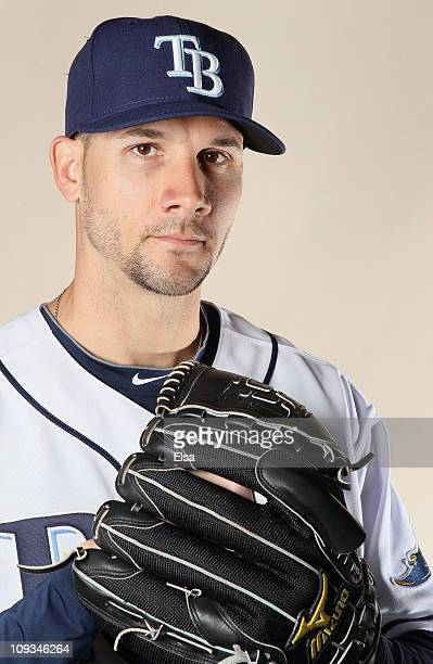 Chris Bootcheck of the Tampa Bay Rays poses for a portrait during the Tampa Bay Rays Photo Day on February 22 2011 at the Charlotte Sports Complex in...