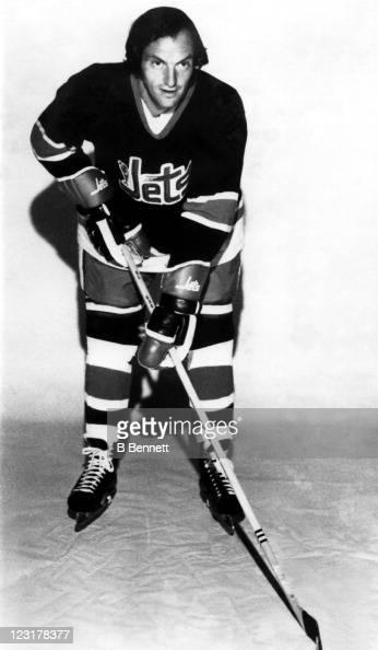 Chris Bordeleau of the Winnipeg Jets poses for a portrait circa 1973 in Winnipeg Manitoba Canada