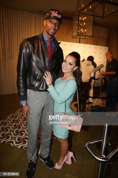 Chris Bosh and Adrienne Bosh attend The Two Kings Dinner presented by Sprite at RDG Bar Annie on February 16 2013 in Houston Texas