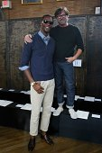 Chris Bosh and designer Billy Reid pose for a photo at Billy Reid Men's Spring 2015 at The Highline Hotel on September 6 2014 in New York City