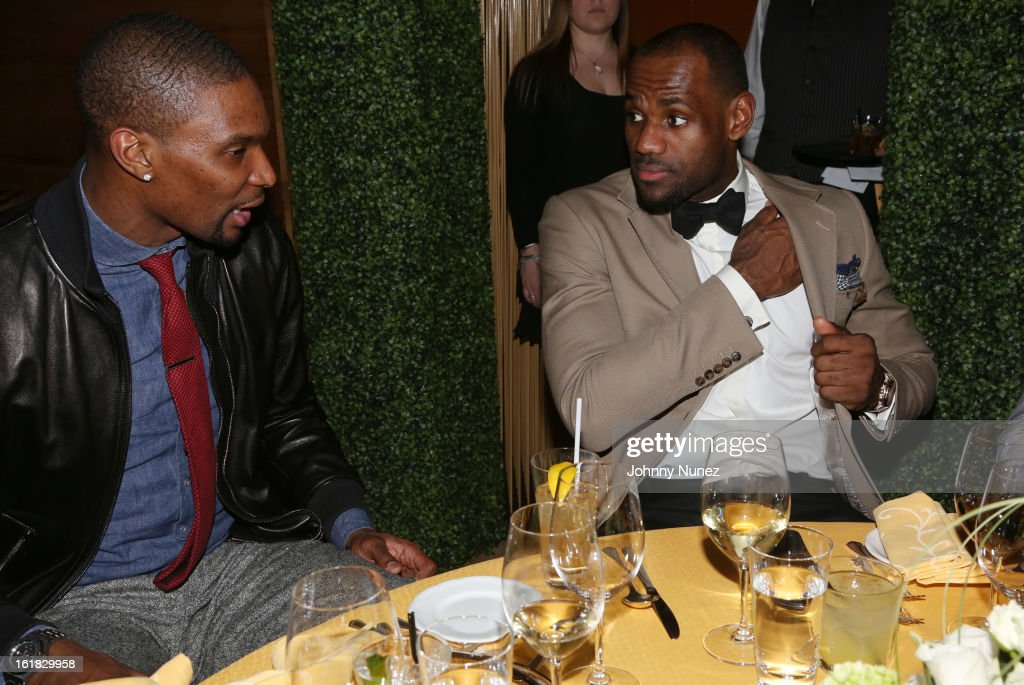 <a gi-track='captionPersonalityLinkClicked' href=/galleries/search?phrase=Chris+Bosh&family=editorial&specificpeople=201574 ng-click='$event.stopPropagation()'>Chris Bosh</a> and <a gi-track='captionPersonalityLinkClicked' href=/galleries/search?phrase=LeBron+James&family=editorial&specificpeople=201474 ng-click='$event.stopPropagation()'>LeBron James</a> attend The Two Kings Dinner presented by Sprite at RDG + Bar Annie on February 16, 2013 in Houston, Texas.