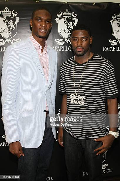 Chris Bosh and Tyreke Evans attend the NBA Draft Week kick off party at Rafaello Co Jewelers on June 23 2010 in New York City