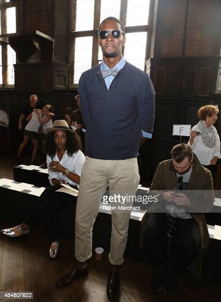 Chris Bosh attends Billy Reid during MercedesBenz Fashion Week Spring 2015 at The Highline Hotel on September 6 2014 in New York City