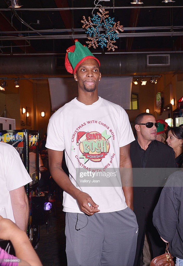 Chris Bosh attends the 'Santa Bosh's Workshop' Celebration at Game Time at Sunset Place on December 17, 2012 in Aventura, Florida.