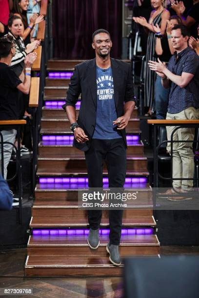 Chris Bosh greets the audience during 'The Late Late Show with James Corden' Tuesday July 25 2017 On The CBS Television Network